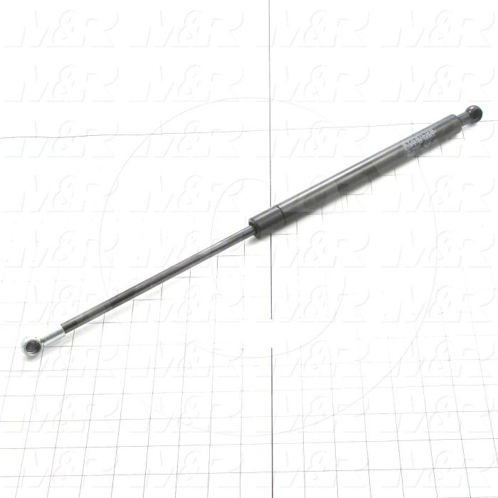 Gas Spring, 512 MM Extended Length, 312 MM Compressed Length, Ball Connector, 13 mm Ball Connector Diameter, 680 N - Details