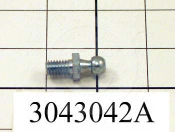 Gas Spring Mounting Hardware, Type Ball Stud, Ball Stud Diameter 10 MM, Thread Size 5/16-18