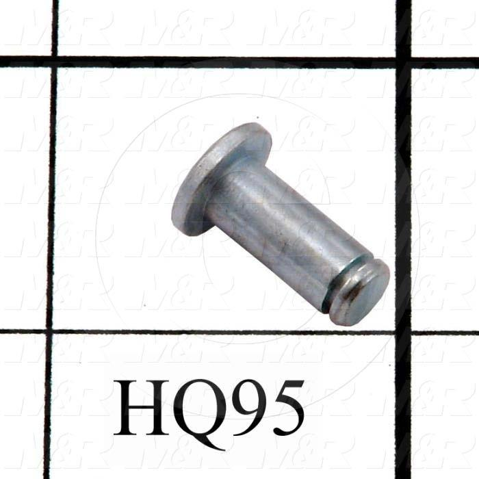 "Gas Spring Mounting Hardware, Type Pin, Round, Works With HQ94 Lift Arm Bracket, 0.219"", 0.531"", Cold Roll Round C4140-Annealed, Cadmium"