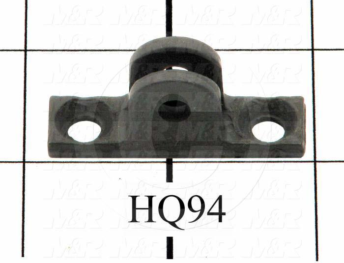 "Gas Spring Mounting Hardware, Type Pivot Bracket, Works With HQ95 Lift Arm Bracket Pin., 0.219"", 1.75"", Steel, Black"