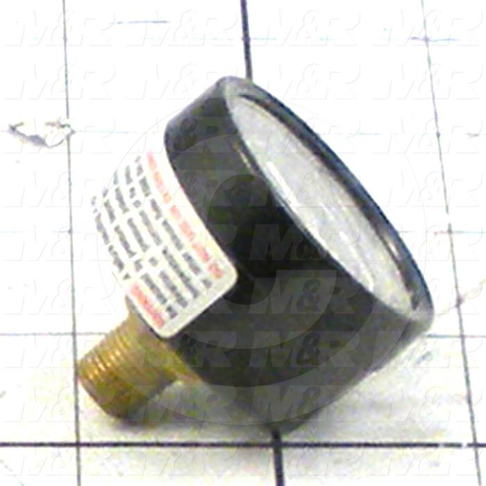 """Gauge, 1.50 in. Outside Diameter, 160 Psi Max. Pressure, 1/8"""" PTF Thread Size"""