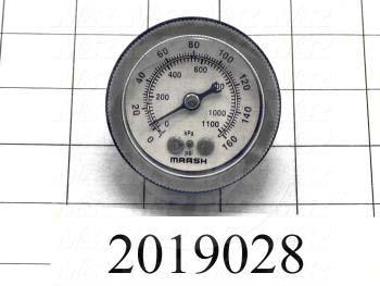 """Gauge, 2.125"""" Outside Diameter, 160 kPa Max. Pressure"""