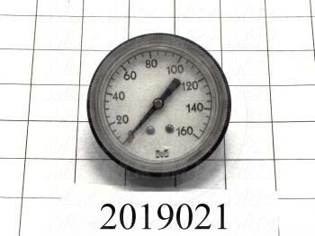 Gauge, 2.50 in. Outside Diameter, 160 Psi Max. Pressure
