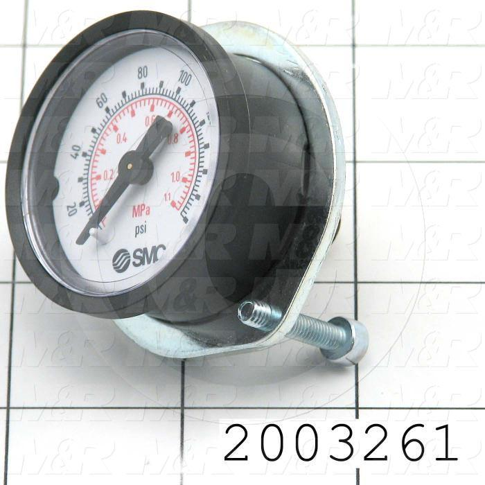 "Gauge, 5.00"" Outside Diameter, Panel Mounting, 6-32 Thread Size"