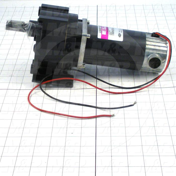 Gearmotors, Ratio 81.8:1, Output Rpm 1-22 rpm, Motor HP 1/8 hp, Voltage 180VDC