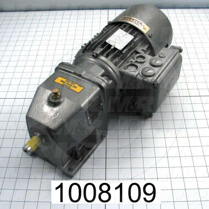 "Gearmotors, Type In-Line, Type of Gears Helical, Ratio 4.82:1, Output Type Output Shaft (Single), Output Diameter 3/4"", Output Torque 133 in-lbs, Output Rpm 355 rpm"