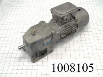 "Gearmotors, Type In-Line, Type of Gears Helical, Ratio 4.82:1, Output Type Output Shaft (Single), Output Diameter 3/4"", Output Torque 90 in-lbs, Output Rpm 355 rpm"