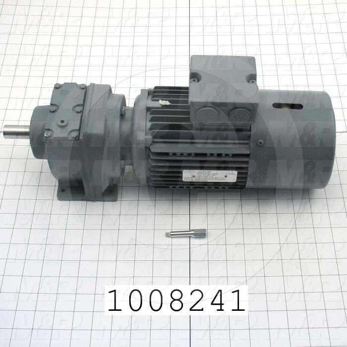 Gearmotors, Type In-Line, Type of Gears Helical, Ratio 5.13:1, Output Type Output Shaft (Single), Output Diameter 20 mm, Output Rpm 329 rpm, Mounting Type Foot mounted, Motor HP 3/4 hp