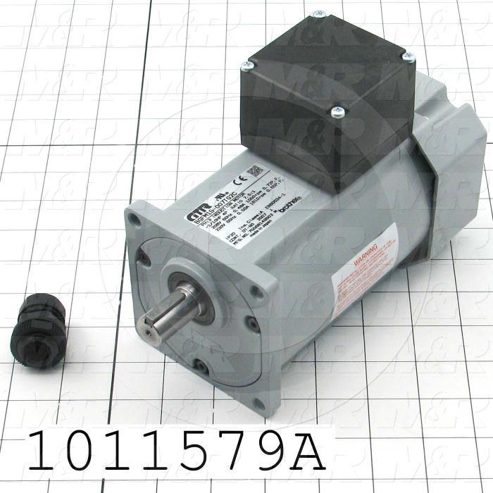 Gearmotors, Type In-Line, Type of Gears Helical, Ratio 7.5:1, Output Type Output Shaft (Single), Motor HP 1/10 HP, Voltage 208/230V 3PH 60Hz