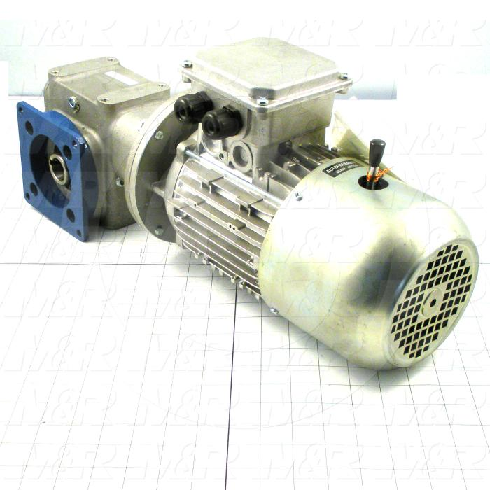 "Gearmotors, Type Right Angle, Type of Gears Worm, Ratio 5:1, Output Type Hollow Bore, Output Diameter 1"", Mounting Type Flange mounted, Motor HP 3/4 hp, Voltage 208/230V 3PH 60Hz"