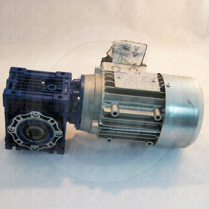 Gearmotors, Type Right Angle, Type of Gears Worm, Ratio 7.5:1, Output Type Hollow Bore, Output Diameter 18 mm, Output Torque 354 in-lbs, Output Rpm 233 rpm, Mounting Type Face mounted