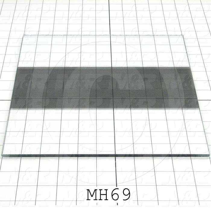 "Glass, Type Tempered Float Glass, Dimensions 1/4""x11-1/16""x12-3/16"""