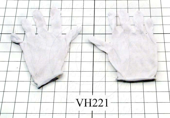 Gloves, Color White, Used For Quartz Lamp Handling, Cotton Material