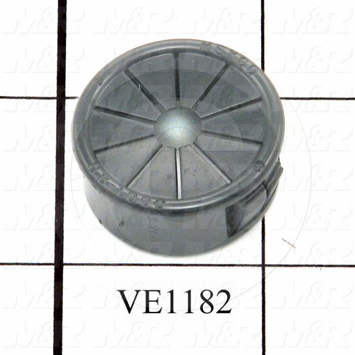 """Grommets, Plugs, Bushings, 1 in. Outside Diameter, 0.75 in. Inside Diameter, 1.06"""" Head Size/Diameter, Black, Nylon 6/6"""