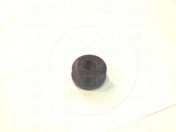 "Grommets, Plugs, Bushings, Grommet, Grommet, 11/16"" Outside Diameter, 7/16"" Inside Diameter, 9/16 in. Groove Diameter, Black"