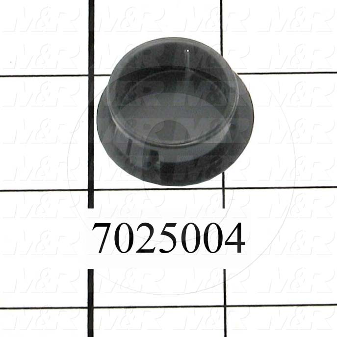 "Grommets, Plugs, Bushings, Plug, 1.00 in. Groove Diameter, 0.109"" Panel Thickness, 1.218"" Head Size/Diameter, Black, Nylon"