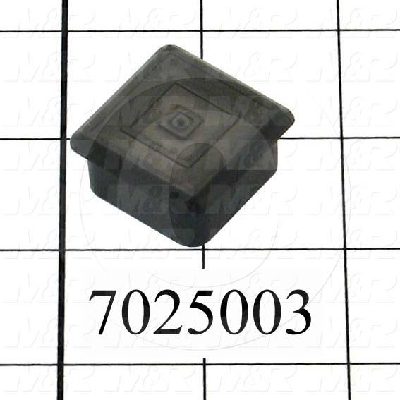 "Grommets, Plugs, Bushings, Plug, Black, Polypropylene, 1.25"" X 1.25"" Outside Tube Diameter 14Ga  Square"
