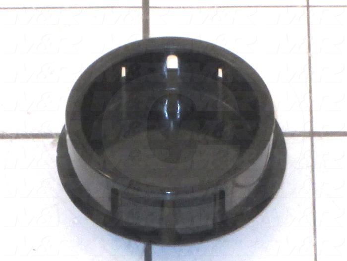 Grommets, Plugs, Bushings, Plug, Snap Bushing, 1.25 in. Inside Diameter, Black, Plastic