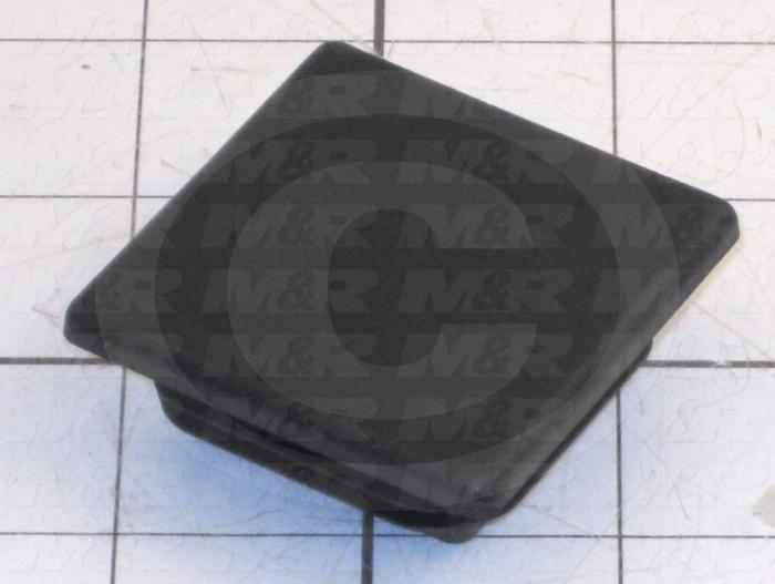 Grommets, Plugs, Bushings, Plug, Square Plug, 4 to 8 Ga. Panel Thickness, Black, Polyethylene
