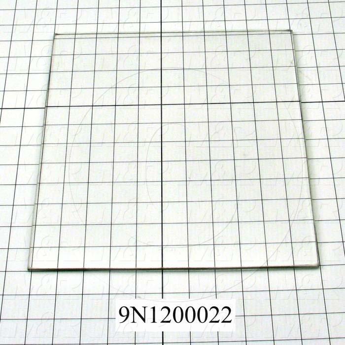 "High Temp. Glass, Temperature Rating 446F, Dimensions 1/4""X11-1/16""X12-3/16"""
