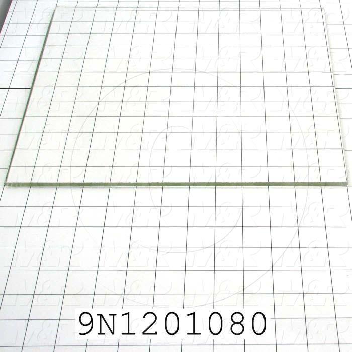 "High Temp. Glass, Temperature Rating 446F, Dimensions 1/4""X12-3/16""X13-1/16"""