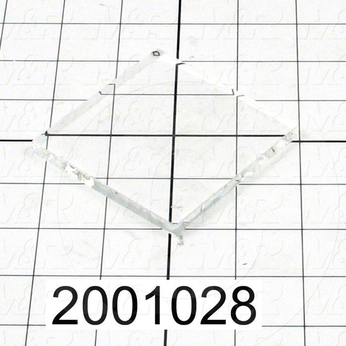 "High Temp. Glass, Temperature Rating 446F, Dimensions 1/4""x3""x3"""