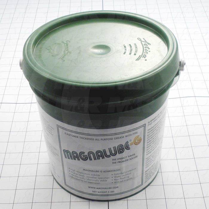 High-Temperature Grease With PFTE, Elastomer-Thickened Greases Reduces Friction And Waterproofs Metal Surfaces, Preventing Rust And Corrosion, 5 Lb. Contrainer, Green