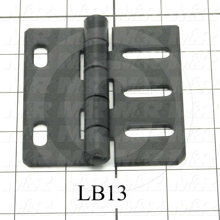 """Hinge, Door/Butt, Surface Mounting Style, 3.50 in. Width, 3.25"""" Overall Length, 0.125"""" Thickness, Steel, Black Hard Coat"""
