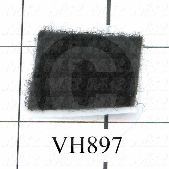 Hook & Loop, Loop Tape Type, Self Adhesive Mounting Type, Black Color, 1.00 in. Width