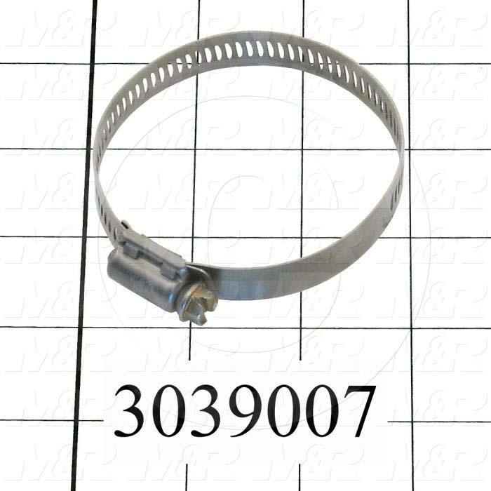 "Hose and Tube Clamps, Worm Drive Clamp Type, Stainless Steel Material, 1.81"" To 2.75"" Clamp ID Range, 0.50"" Band  Width, SAE No. 36"