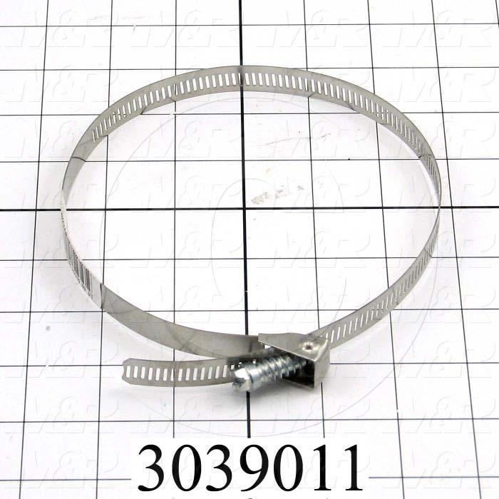 "Hose and Tube Clamps, Worm Drive Clamp Type, Stainless Steel Material, 2"" to 6"" Clamp ID Range, 0.44"" Band  Width, SAE No. 88"