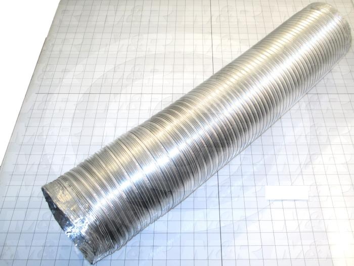 "Hose Duct, Flex-Lock Aluminum Duct Hose Type, 6"" Hose ID, 435 F Max. Temperature, Clear Aluminum Color, Bend Radius 3"",Compressed Length 26"", Extended Length 78"""