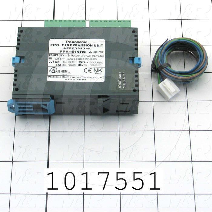 I/O Module, 8 Inputs, 8 Outputs, Relay, FP-E Series