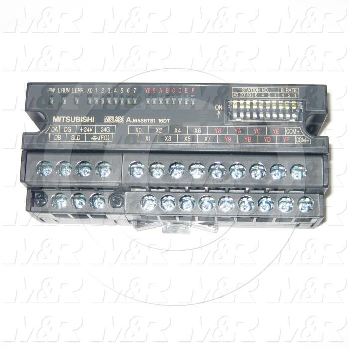 I/O Module, CCLink, 8 Inputs, DC, 8 Outputs, Transistor Sink