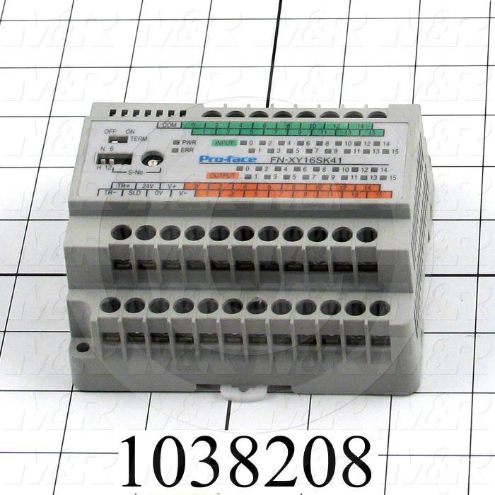 I/O Module, Flex Network, 16 Inputs, Sink/Source, 16 Outputs, Transistor Sink