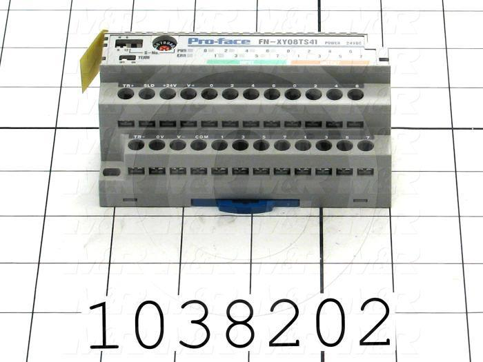 I/O Module, Flex Network, 8 Inputs, Sink/Source, 8 Outputs, Transistor Sink