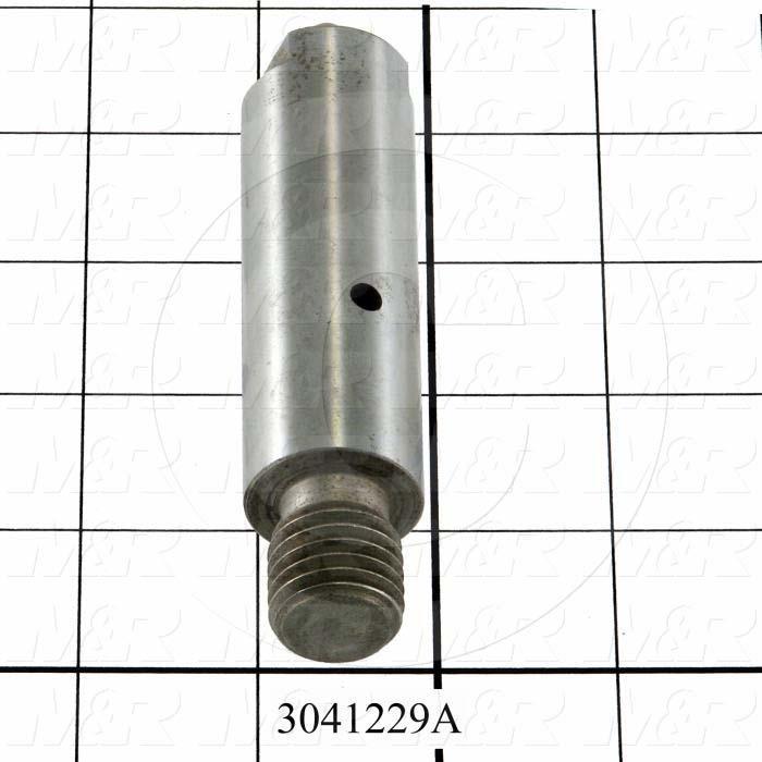 """Idler Shaft, 1.00"""" Outside Diameter, 3/4-10 Thread Size, 3.13"""" Length of Block, 0.88"""" Thread Length, Steel Material"""