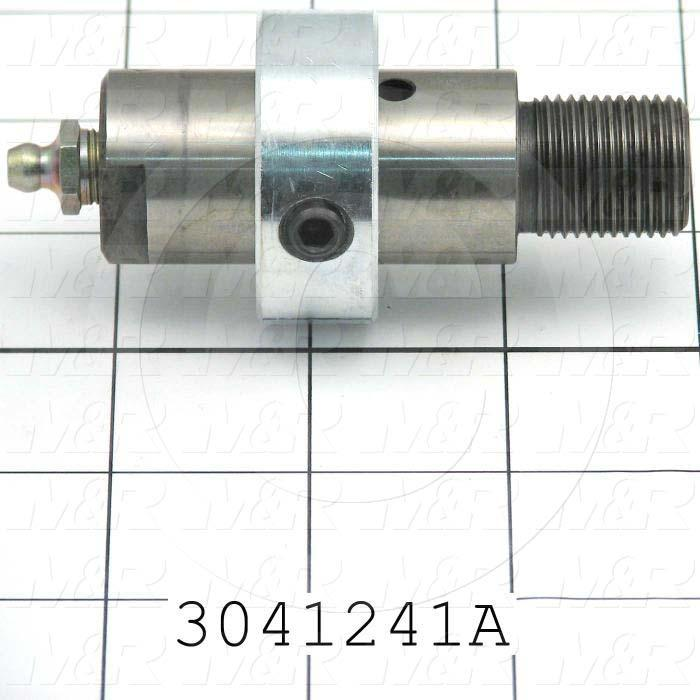 "Idler Shaft, 1.00"" Outside Diameter, 3/4-16 Thread Size, 2 1/16"" Length of Block, 0.88"" Thread Length, Steel Material"