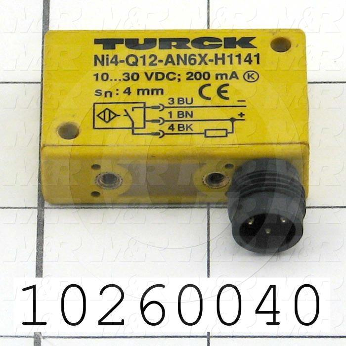 Inductive Proximity Switch, Block, Sensing Range 4mm, 10-30VDC