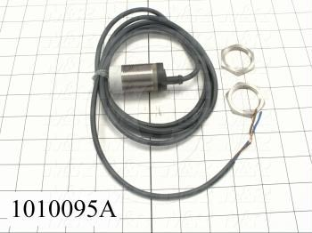Inductive Proximity Switch, Round,12mm Diameter, Sensing Range 22mm, 2 Wire, Normally Open, 2m Cable, 10-40VDC