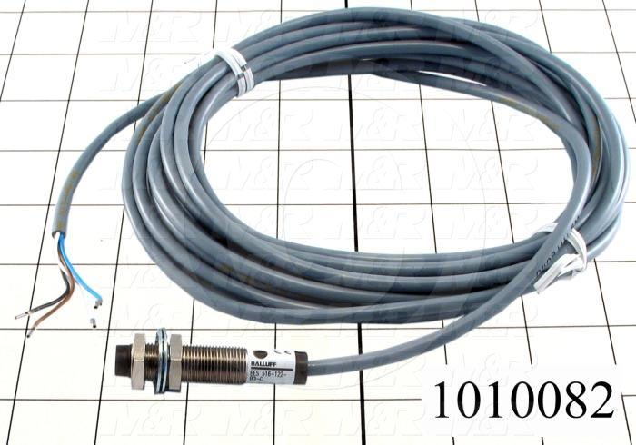 Inductive Proximity Switch, Round,12mm Diameter, Sensing Range 4mm, 4 Wire NPN, NO+NC, 5m Cable, 10-30VDC