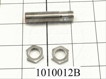 Inductive Proximity Switch, Round,12mm Diameter, Sensing Range 4mm, NPN, Normally Open