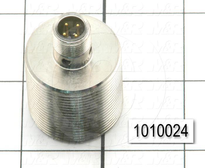 Inductive Proximity Switch, Round,30mm Diameter, Sensing Range 10mm, NPN, Normally Open, 5' Coil Cable