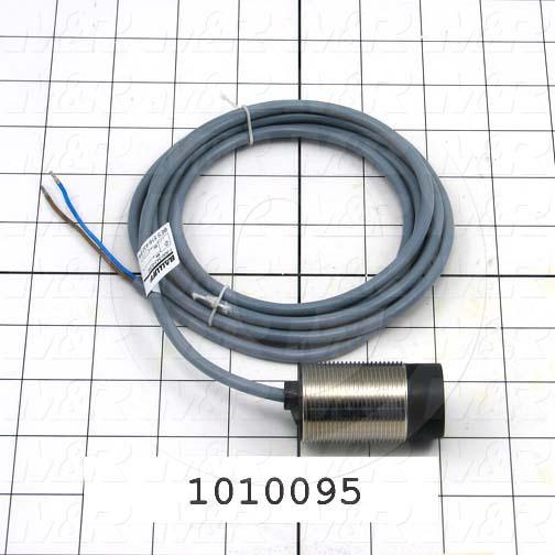 Inductive Proximity Switch, Round,30mm Diameter, Sensing Range 15mm, 2 Wire, Normally Open, 5m Cable