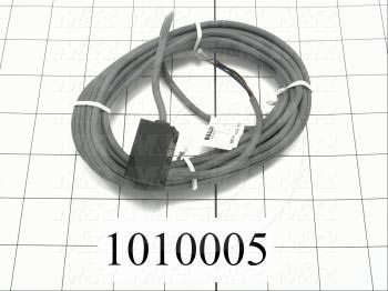 Inductive Proximity Switch, Square, NPN, Normally Open, 5m Cable