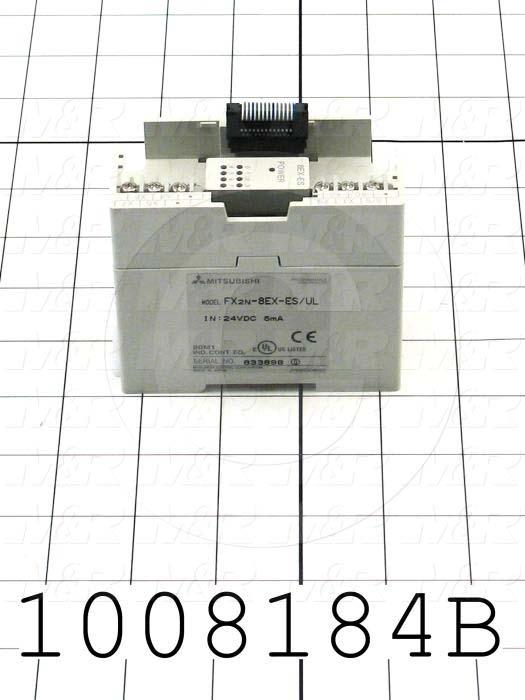 Input Module, 8 Inputs, 24VDC Sink/Source, FX2N Series
