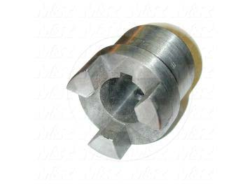 "Jaw Type Coupling, Hub # 1 Bore 1"", Hub # 1 Outer Diameter 1.75"", Steel Hub Material, Clamping Style Keyway & Set Screw, Hub Only"
