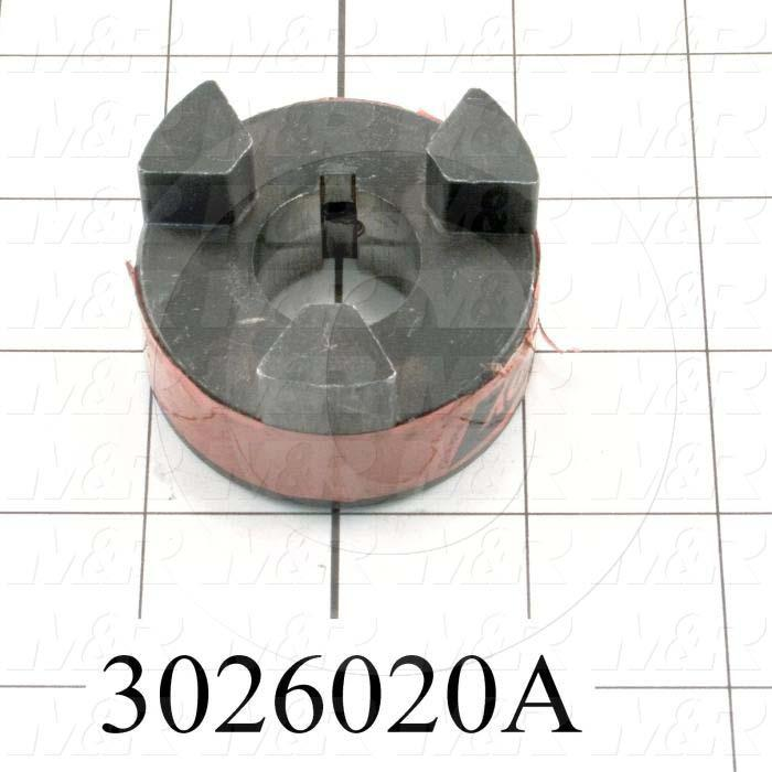 "Jaw Type Coupling, Hub # 1 Bore 7/8"", Hub # 1 Outer Diameter 2.11"", Overall Length 1.06 in., Steel Hub Material, Clamping Style Set Screw, Hub Only"