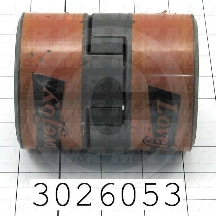 Jaw Type Coupling, Hub # 1 Bore 7/8, Hub # 2 Bore 1, Overall Length 4.00 in., Steel Hub Material, Clamping Style Set Screw - Details