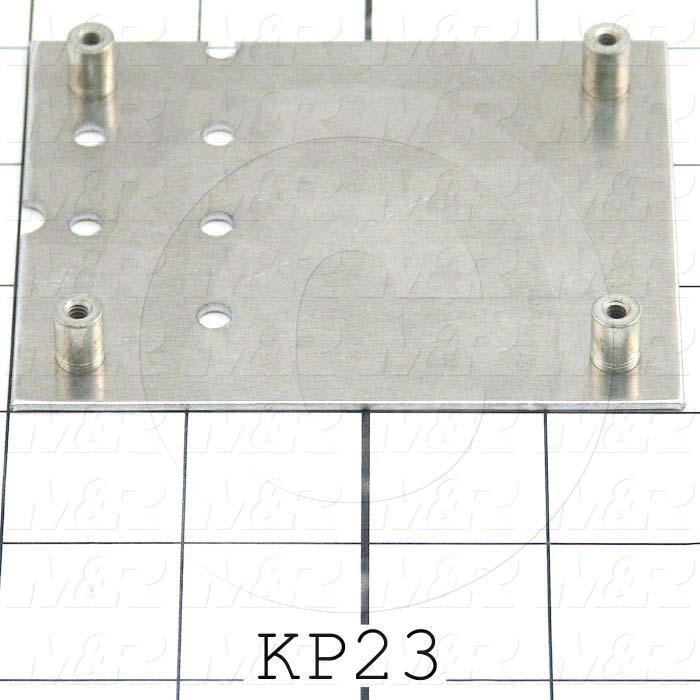 "Key Pad Frame, Discription Key Pad Frame, 3.00 in. Width, 3.75"" Length, 0.062"" Thickness, Aluminum Material, Exposure System 23x27 M&R Machines"